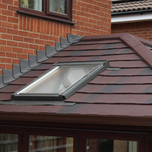 replacement tiled roof with skylight